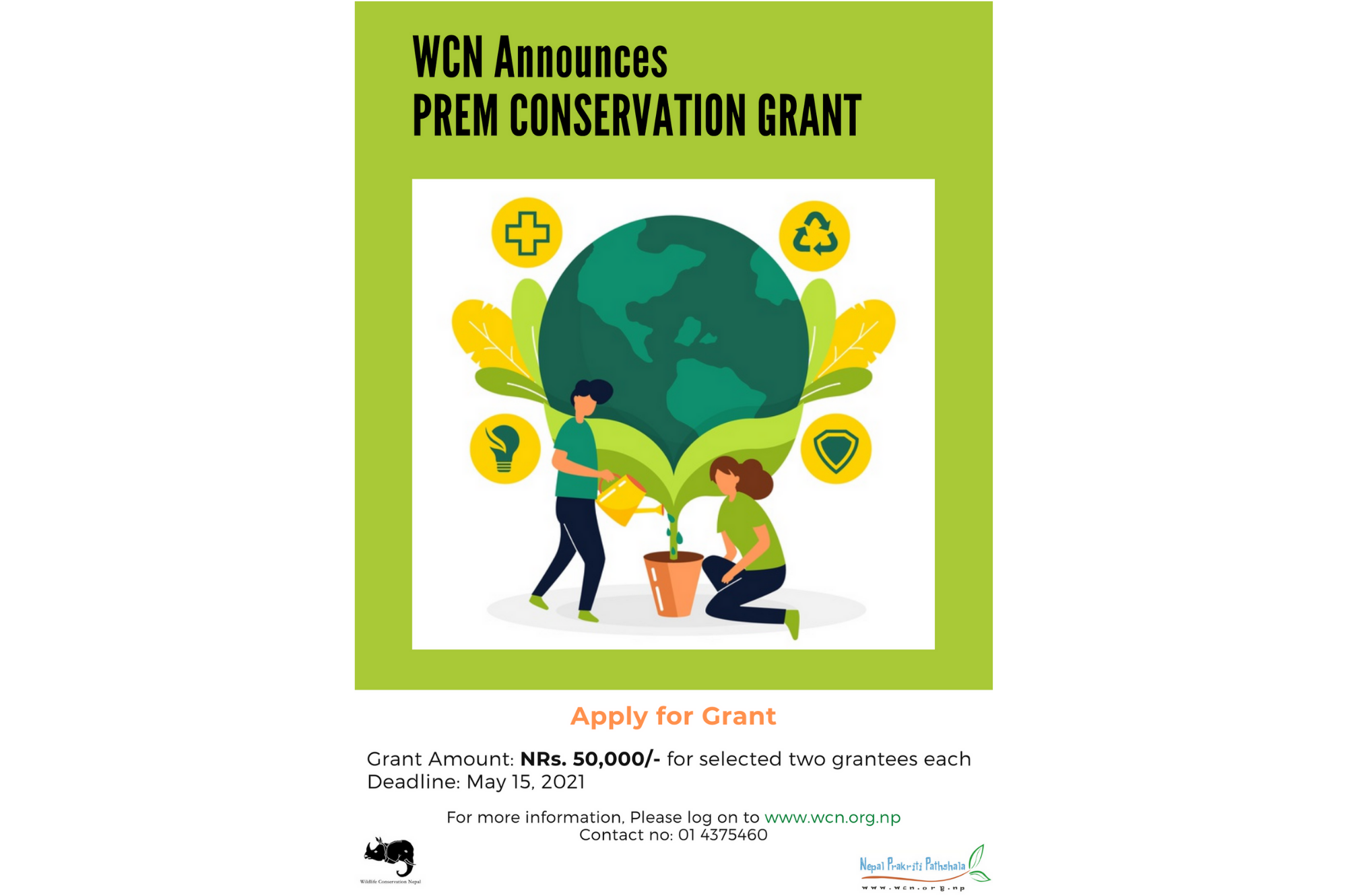 WCN Announces Prem Conservation Grant