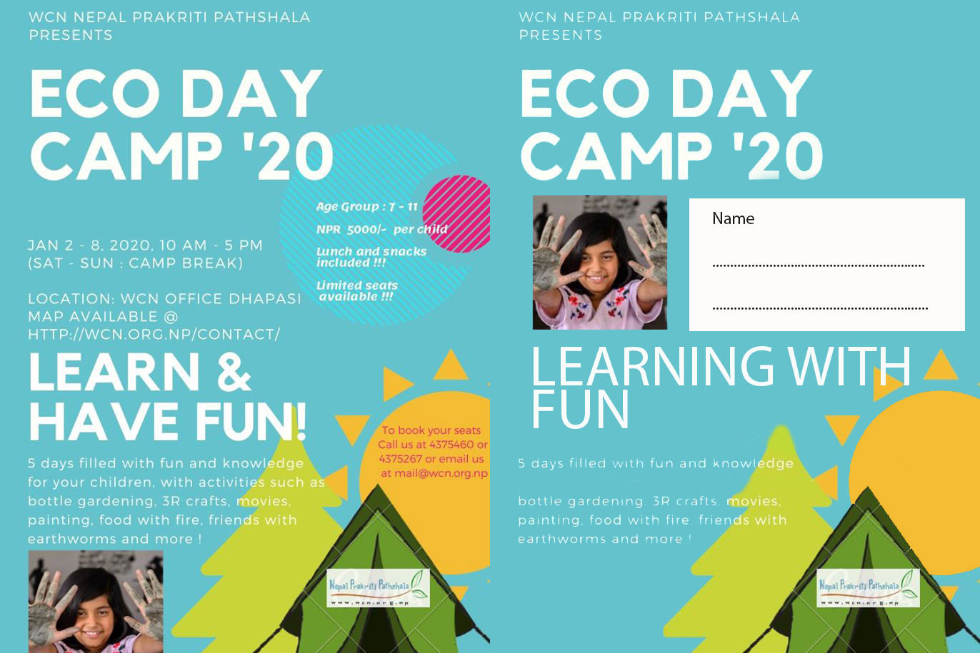 WCN Announces Eco Day Camp '20