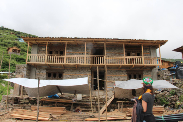 Rebuilding the heart of Gatlang Village