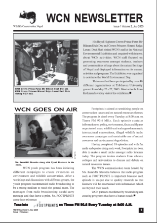 Newsletter 2005 Issue 1 Vol. 2
