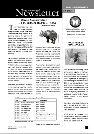 Newsletter 2006 Issue 2 Vol. 3