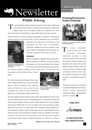 Newsletter 2007 Issue 1 Vol. 4