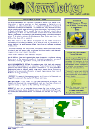 Newsletter 2008 Issue 1 Vol. 5
